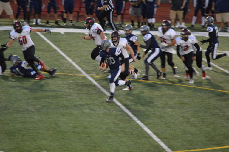 """SPSL 2A Football: River Ridge's Ball """"Hawking"""" Defense too much for Orting"""