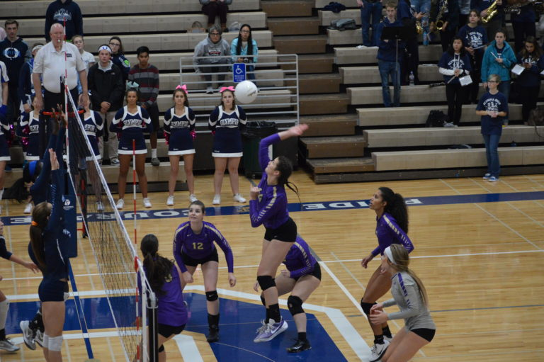 Volleyball: Puyallup keeps pace in tight SPSL 4A race with sweep of Olympia