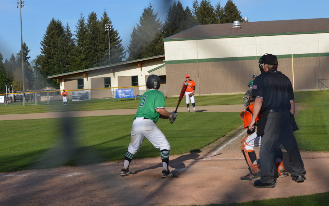 "Baseball: T-Birds get walk-off ""hit"" in come from behind win over Tigers, evens season series"