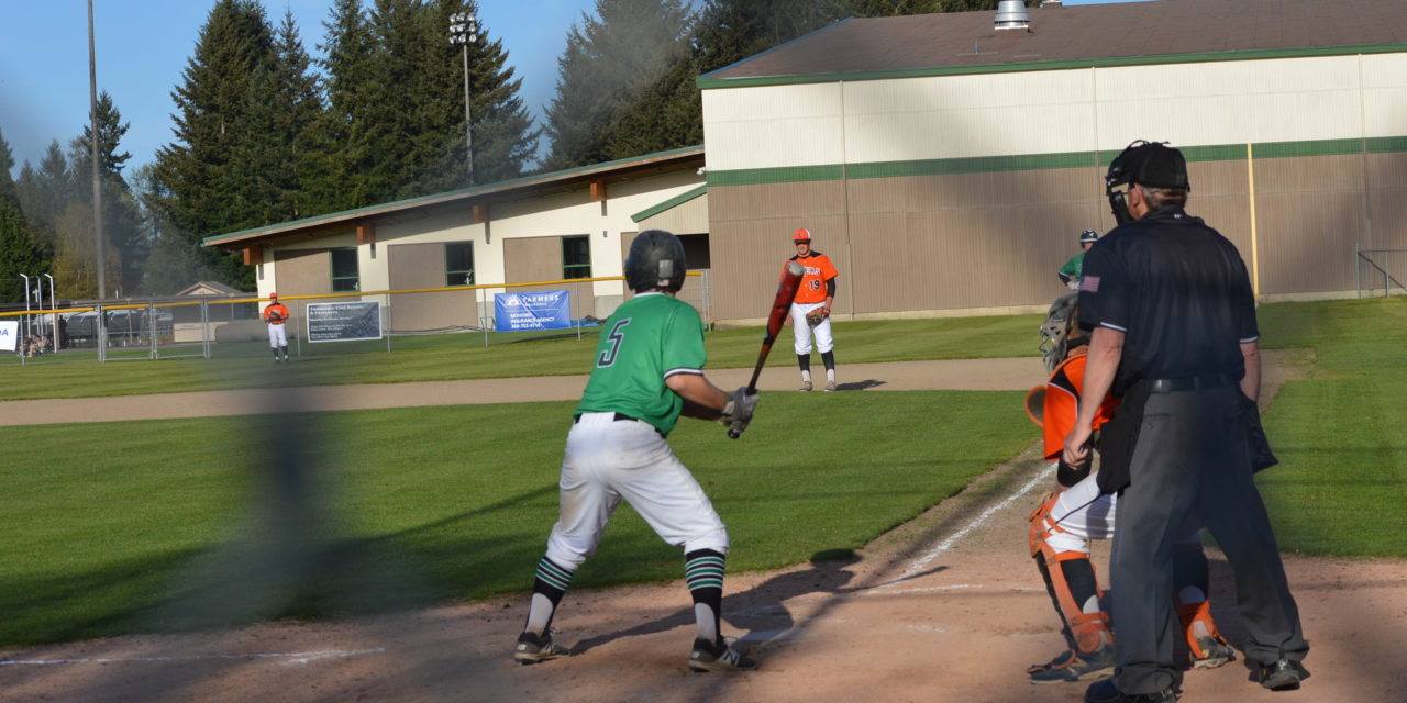 """Baseball: T-Birds get walk-off """"hit"""" in come from behind win over Tigers, evens season series"""