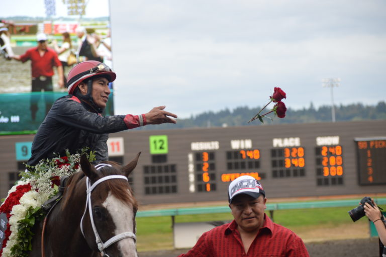 Longacres Mile Day at Emerald Downs tops  card of 4 Stakes Races