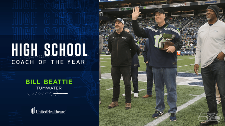 Tumwater's Head Football Coach Bill Beattie named Coach of the Year