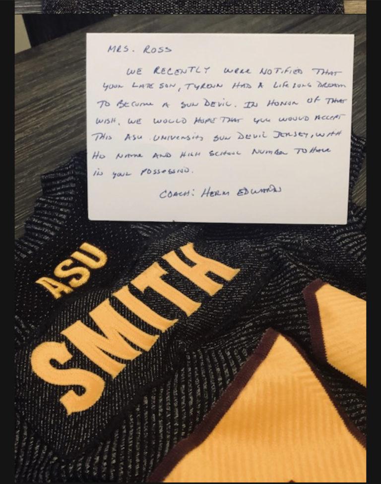 ASU Sun Devils Honor Tyrenn Smith