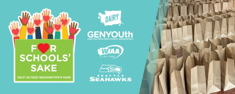 Dairy Farmers of Washington, WIAA & Seahawks team up to raise funds for school meal programs
