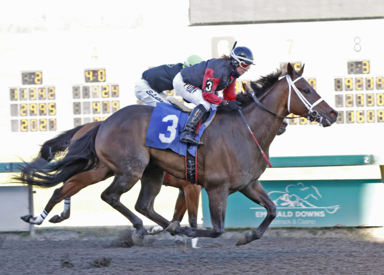 Emerald Downs: Jennifer Whitaker scores 500th Auburn Win, LGA Mile Weights Released